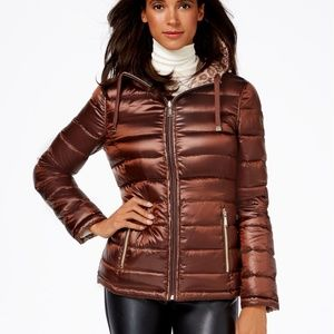 Women's Reversible Printed Down Puffer Coat